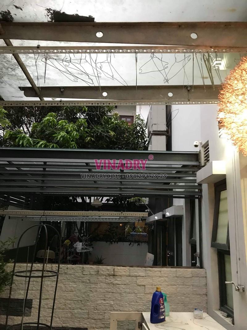 Sửa giàn phơi thông minh tại KĐT Gamuda, Hoàng Mai, Hà Nội nhà anh Minh - 07