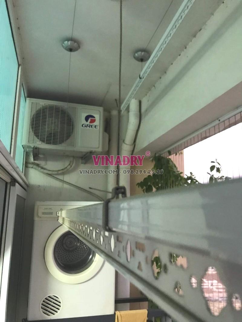Sửa giàn phơi tại Gia Lâm nhà chị Quy, chung cư đường An Đào C lỗi đứt cáp - 01