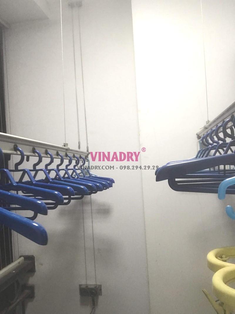 Thay dây cáp giàn phơi giá rẻ tại Times City nhà chị Hoài, tòa T2 - 01