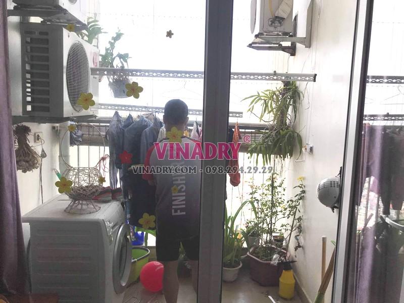 Thay củ quay giàn phơi nhà anh Trí, tòa V1, Victoria Văn Phú Hà Đông - 06