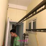 Lắp giàn phơi thông minh cho nhà chị Tuyết tại căn 106 nhà N10 tập thể Học viện kỹ thuật quân sự