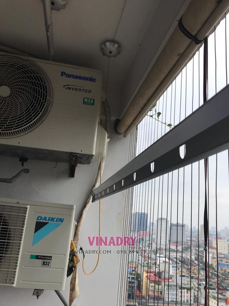 Thay dây cáp cho giàn phơi nhà chị Hoa ở chung cư 165 Thái Hà, Đống Đa, Hà Nội