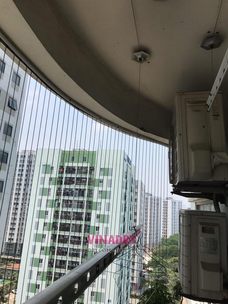 Thay toàn bộ dây cáp giàn phơi nhà bác Thanh, chung cư CT5-X2, Linh Đàm, Hoàng Mai