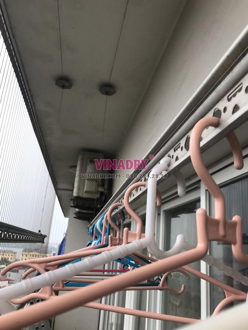 Thay dây cáp giàn phơi thông minh tại nhà anh Nam, chung cư CT2B, 68A Võ Chí Công, Tây Hồ, Hà Nội