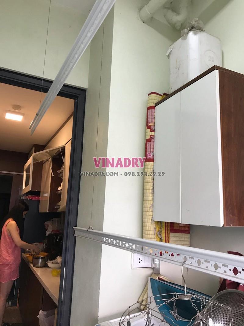 Sửa giàn phơi thông minh tại Hà Nội: thay dây cáp tại nhà chị Lan, tòa CT3A, chung cư 885 Tam Trinh