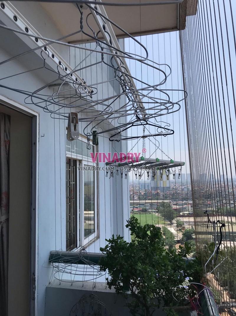 Sửa giàn phơi thông minh tại nhà chị Hoa, chung cư Đại Từ, Hoàng Mai, Hà Nội