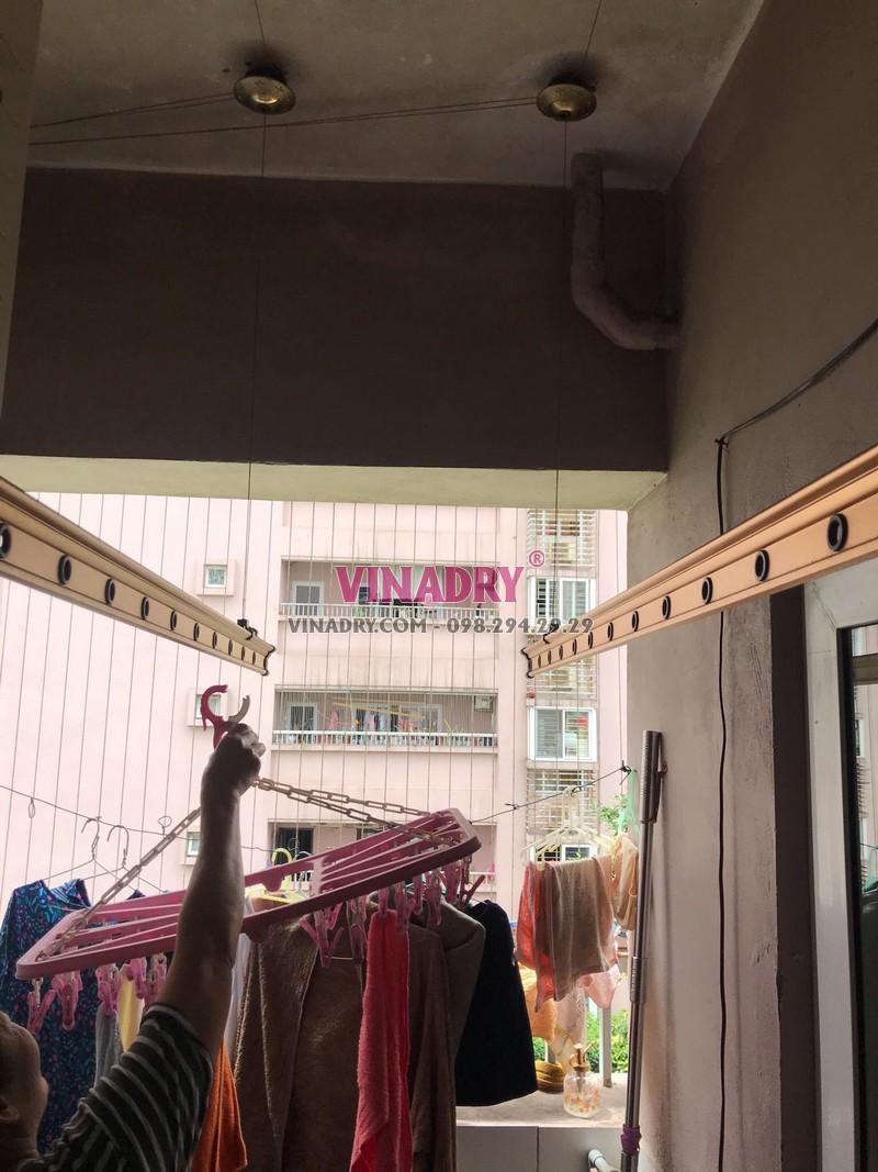 Sửa giàn phơi thông minh tại khu đô thị Việt Hưng, Long Biên, Hà Nội nhà bác Hạnh