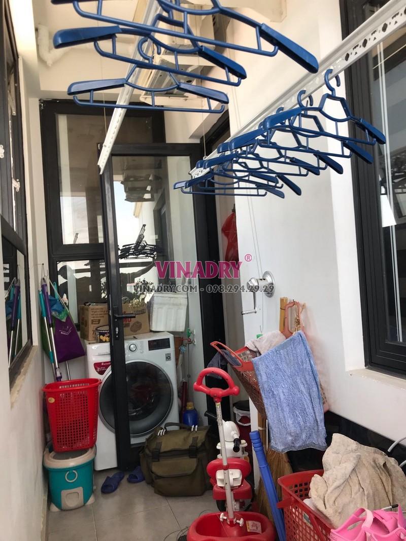 Thay toàn bộ dây cáp giàn phơi thông minh nhà chị My, Khu đô thị Việt Hưng