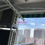 Chuyển giàn phơi thông minh từ chỗ khác và lắp lại, thay dây cáp tại Khu đô thị Việt Hưng nhà chị Mai