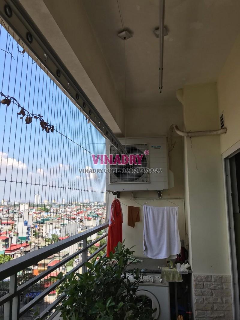 Sửa giàn phơi tại căn 810, Tòa CT1B, 609 Trương Định, nhà chị An