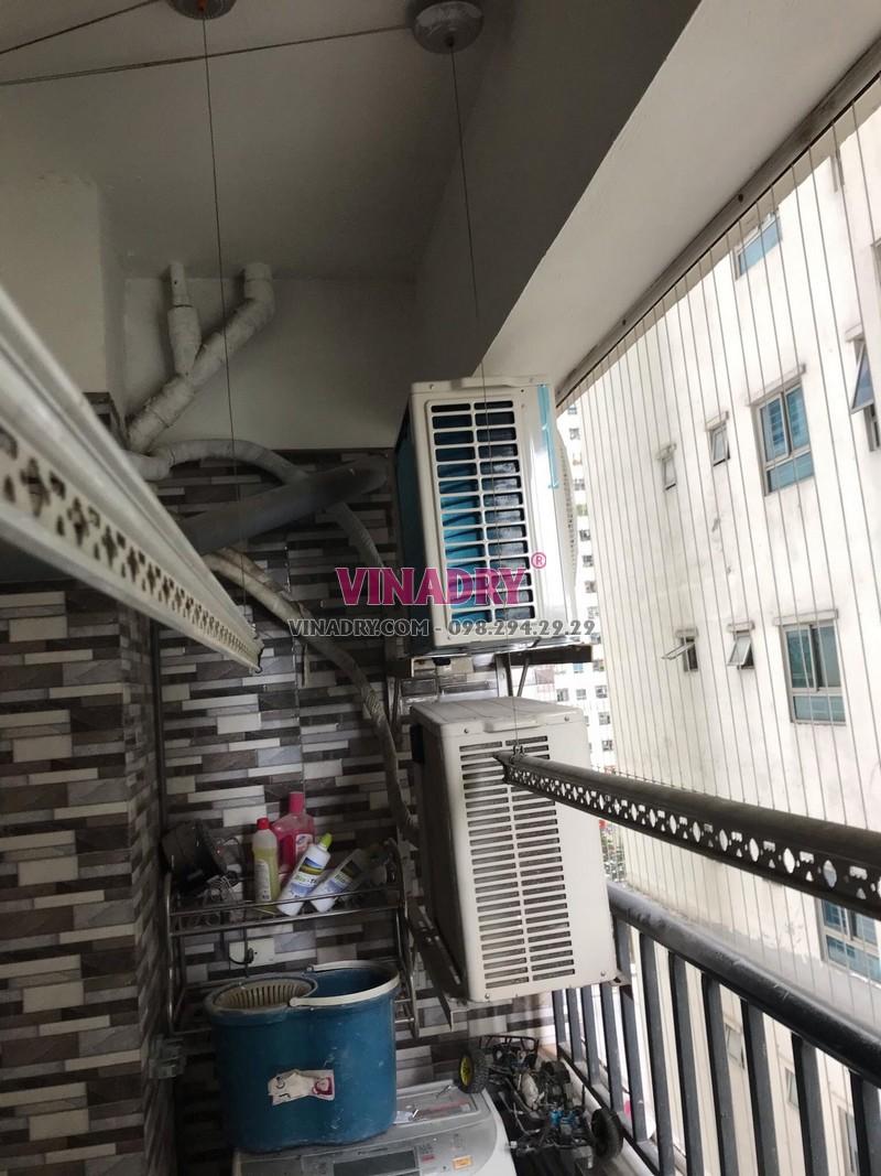 Dịch vụ sửa giàn phơi chuyên nghiệp tại Linh Đàm, nhà chị Phụng