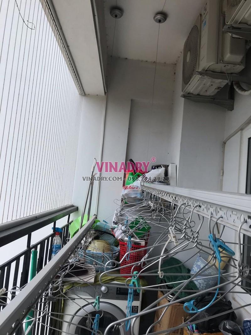 Sửa chữa giàn phơi thông minh giá rẻ tại Hai Bà Trưng - thay dây cáp nhà chị Minh