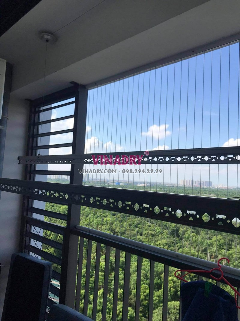 Lắp đặt giàn phơi thông minh khu đô thị Ecopark: bộ KS980 tại nhà chị Linh