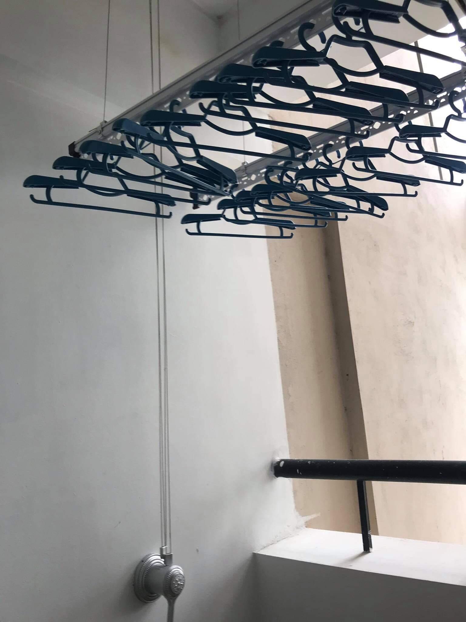 Lắp giàn phơi thông minh tại KĐT Sài Đồng, Long Biên nhà chị Lệ - 02