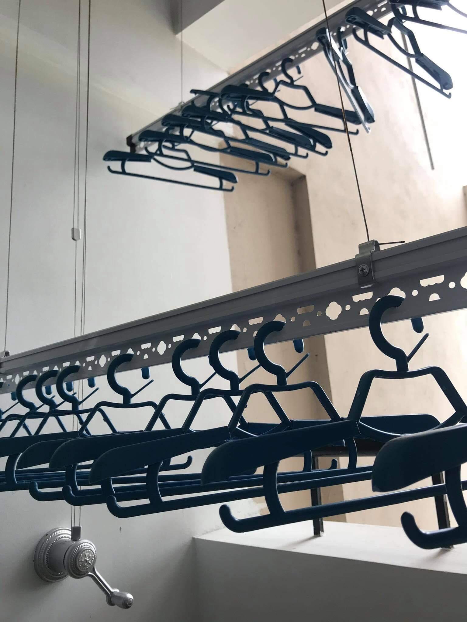 Lắp giàn phơi thông minh tại KĐT Sài Đồng, Long Biên nhà chị Lệ - 04