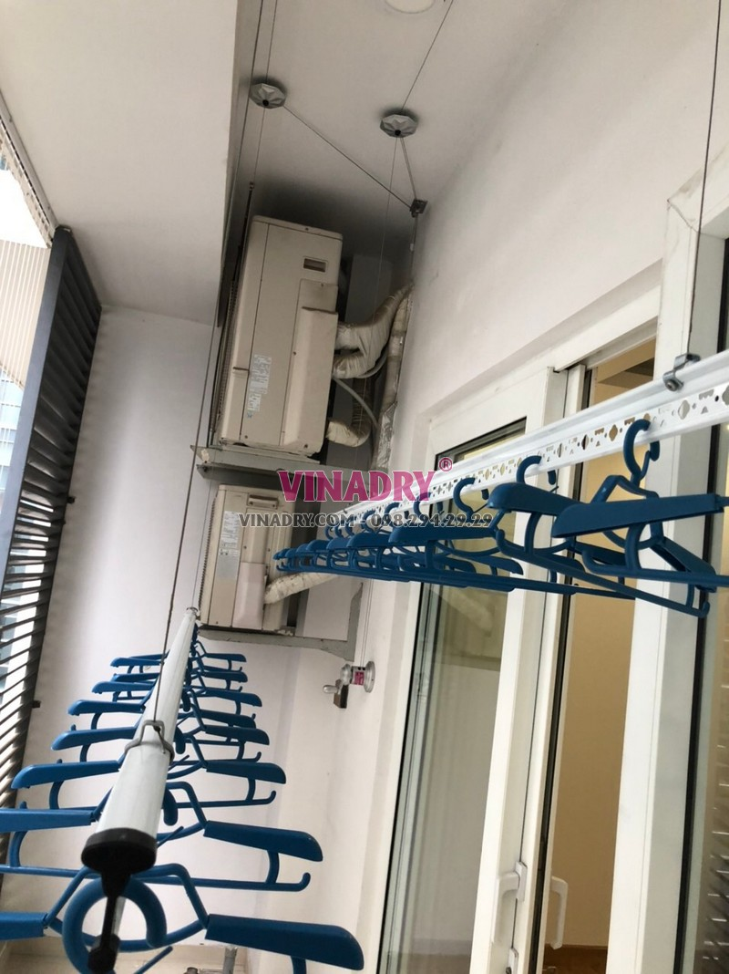 Lắp giàn phơi thông minh Hòa Phát KS950 nhà anh Hùng, chung cư Times Tower, Thanh Xuân, Hà Nội - 02