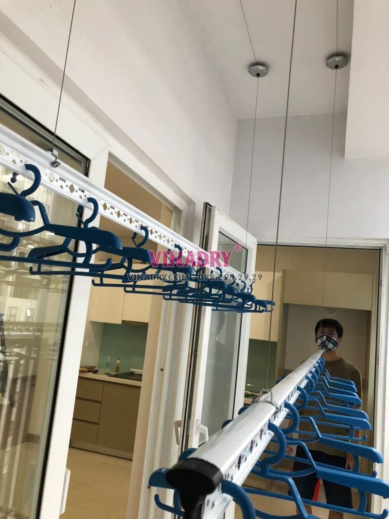 Lắp giàn phơi thông minh Hòa Phát KS950 nhà anh Hùng, chung cư Times Tower, Thanh Xuân, Hà Nội - 04