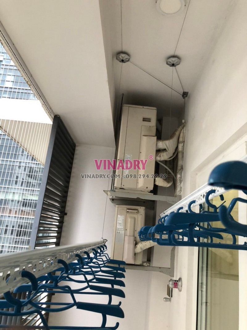 Lắp giàn phơi thông minh Hòa Phát KS950 nhà anh Hùng, chung cư Times Tower, Thanh Xuân, Hà Nội - 05