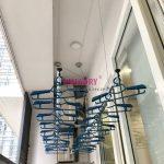Lắp giàn phơi Hòa Phát KS950, lưới an toàn ban công tại chung cư Times Tower Thanh Xuân