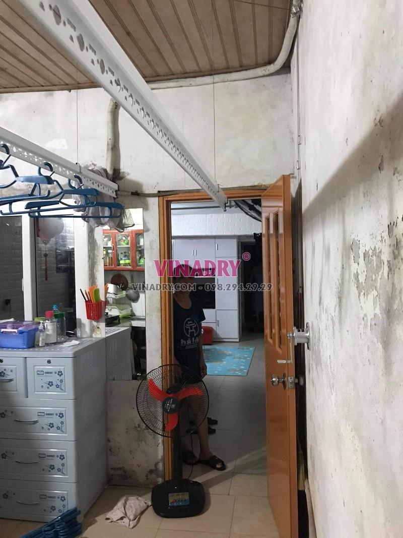 Hình ảnh lắp giàn phơi thông minh Hoàng Mai nhà chị Vy, KTT B14 - 06