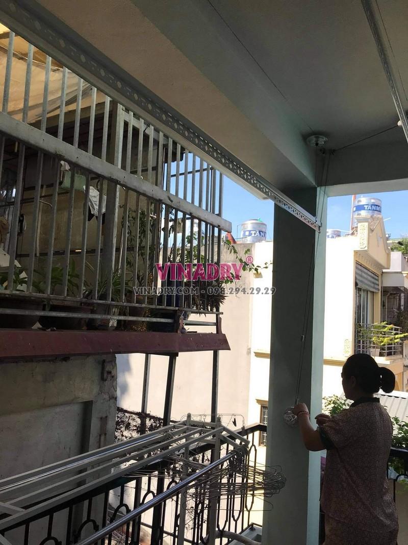 Lắp giàn phơi thông minh tại Tây Hồ nhà chị Hội, ngõ 235 An Dương Vương - 08