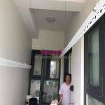 Lắp giàn phơi Hòa Phát HP701 tại Thanh Xuân nhà cô Liễu, chung cư Imperia Garden