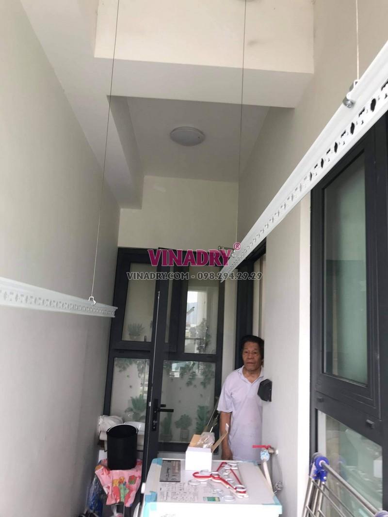 Lắp giàn phơi Hòa Phát HP701 tại Thanh Xuân nhà cô Liễu, chung cư Imperia Nguyễn Huy Tưởng - 05