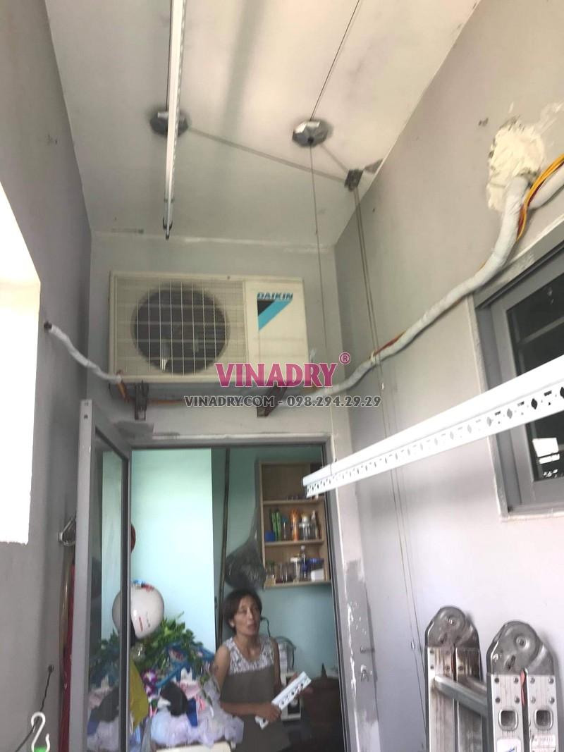 Lắp giàn phơi thông minh Hà Đông nhà chị Huệ, KĐT Kiến Hưng - 04