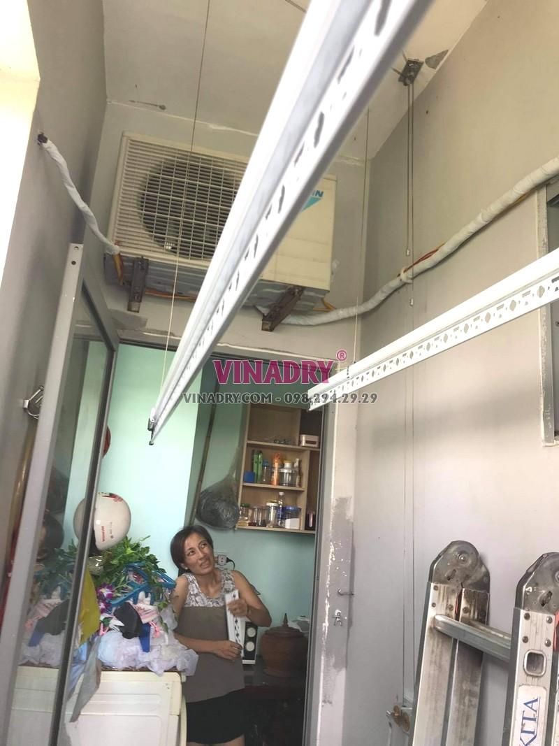 Lắp giàn phơi thông minh Hà Đông nhà chị Huệ, KĐT Kiến Hưng - 05