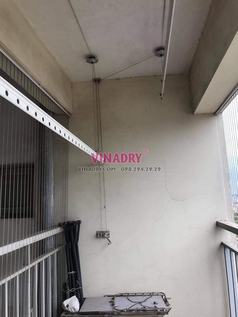 Sửa giàn phơi thông minh Cầu Giấy nhà anh Mạnh, chung cư 72 Trần Đăng Ninh - 06