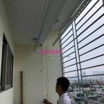 Sửa giàn phơi tại Hoàng Mai: thay dây cáp nhà anh Đạt, KTT Tân Mai