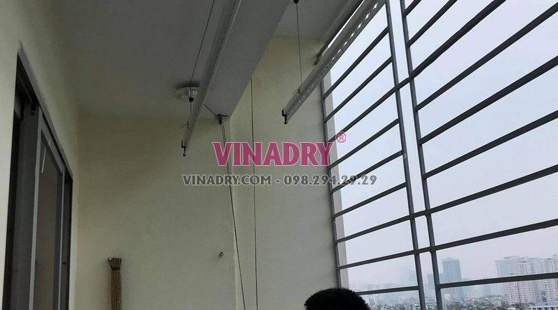 Sửa giàn phơi tại Hoàng Mai: thay dây cáp nhà anh Đạt, KTT Tân Mai - 02