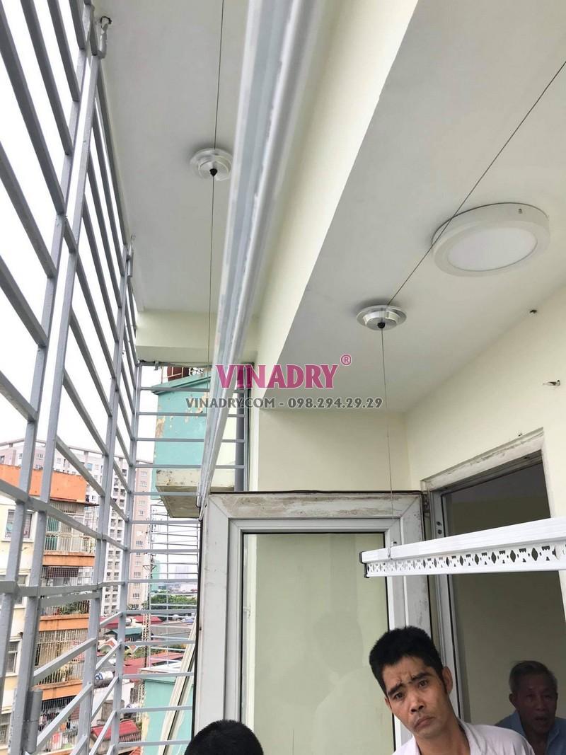 Sửa giàn phơi tại Hoàng Mai: thay dây cáp nhà anh Đạt, KTT Tân Mai - 07