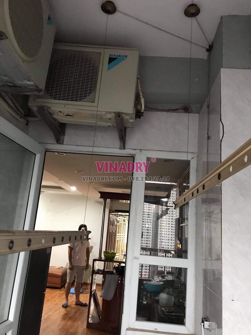 Sửa giàn phơi thông minh Hoàng Mai nhà chị Nhàn, chung cư VP3 bán đảo Linh Đàm - 05