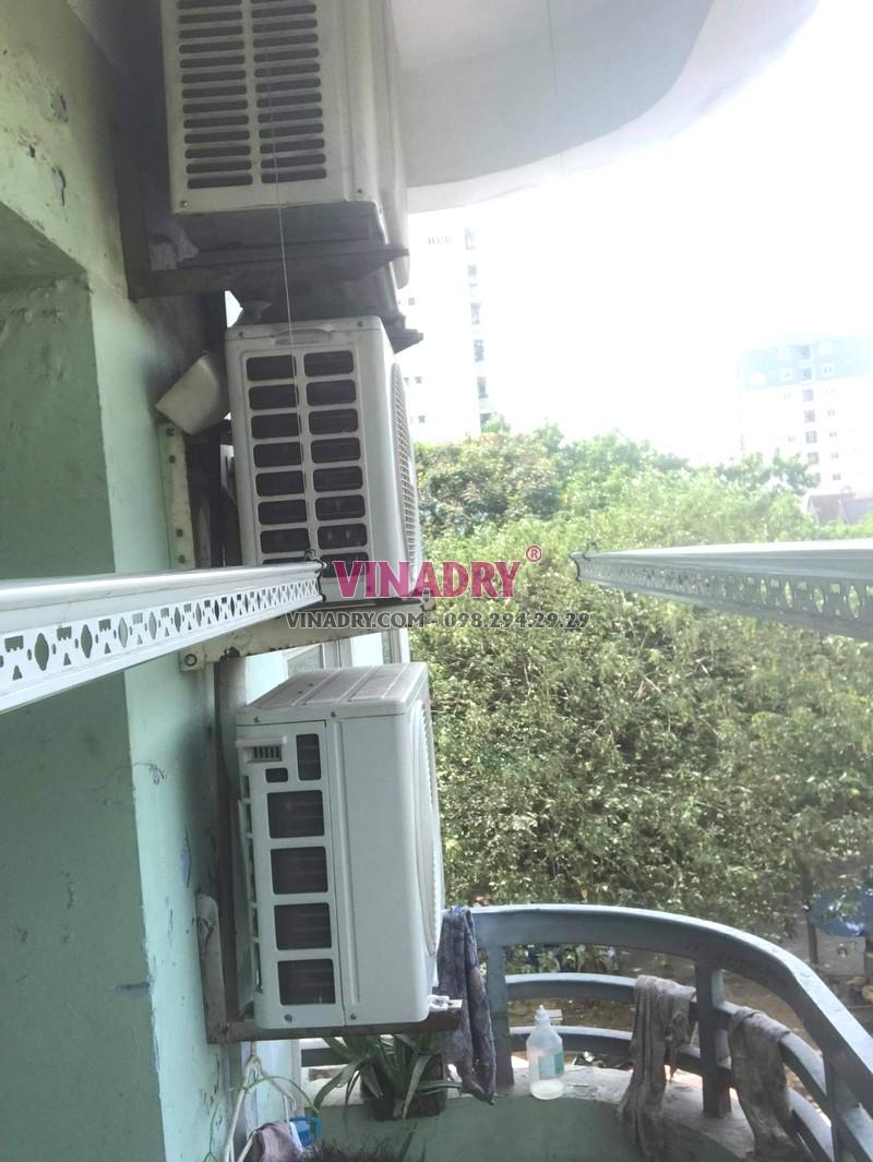 Sửa giàn phơi thông minh Hoàng Mai, thay toàn bộ dây cáp giàn phơi nhà chị Quế, chung cư CT5 - X2 Linh Đàm - 05