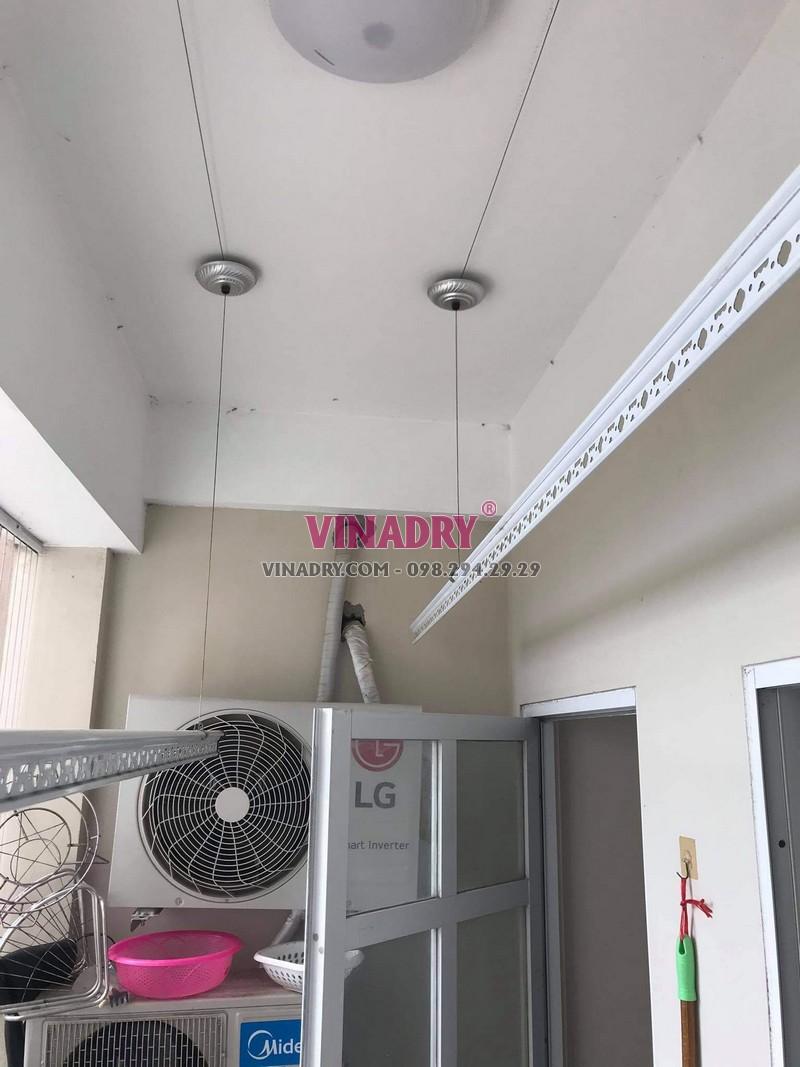 Sửa giàn phơi tại Long Biên, thay dây cáp giá rẻ nhà chị Mai, chung cư CT2B Thạch Bàn - 05