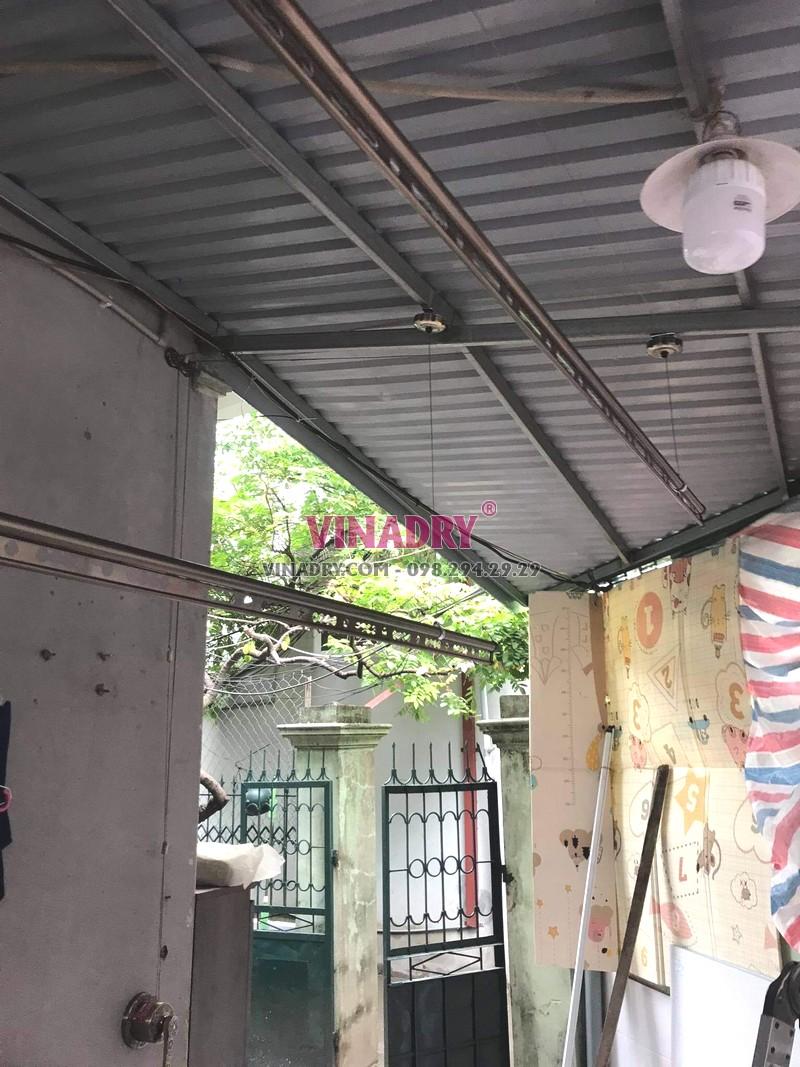 Lắp giàn phơi tại Nam từ Liêm bộ giàn phơi cao cấp GP941 nhà chị Hương - 04