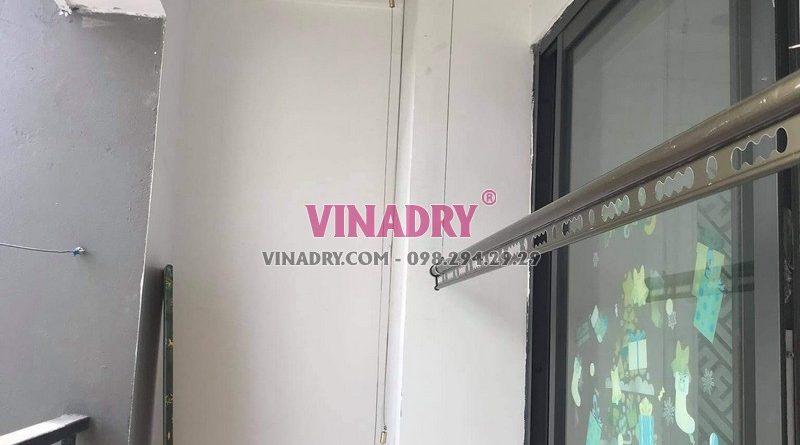 Hình ảnh lắp giàn phơi cho chung cư nhà anh Huy, Hoàng Mai, Hà Nội - 02