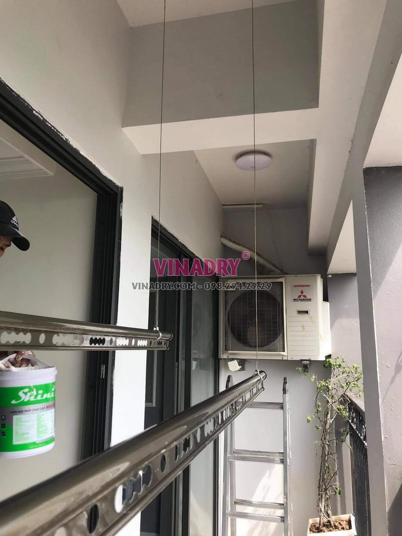 Hình ảnh lắp giàn phơi cho chung cư nhà anh Huy, Hoàng Mai, Hà Nội - 06