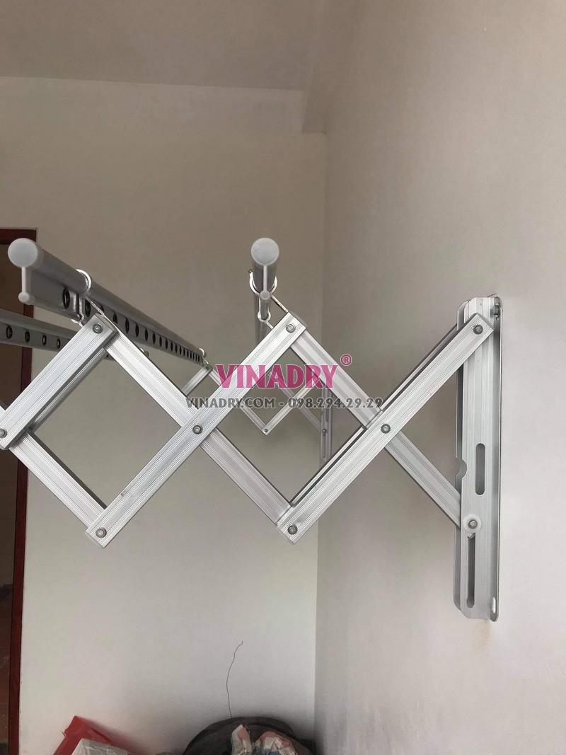 Giàn phơi xếp ngang Hàn Quốc KN198 được sản xuất từ hợp kim nhôm bền bỉ