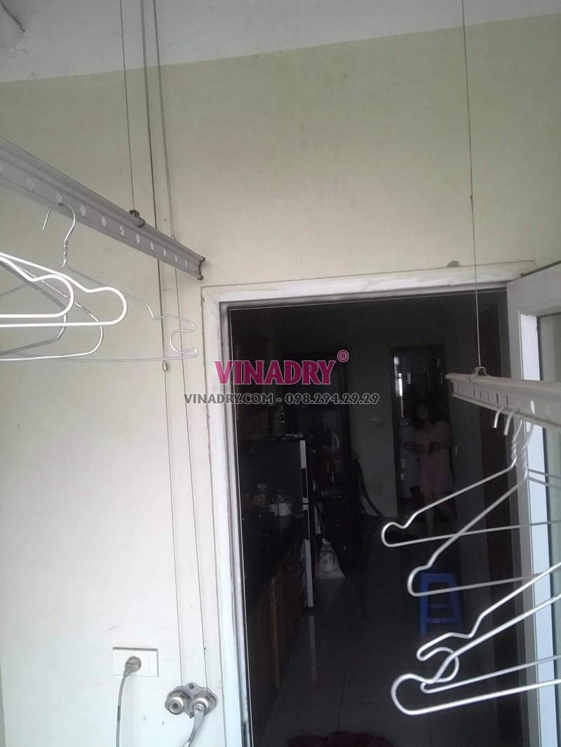 Sửa giàn phơi tại Đông Anh Hà Nội nhà chị My, chung cư Erowindow river park - 01