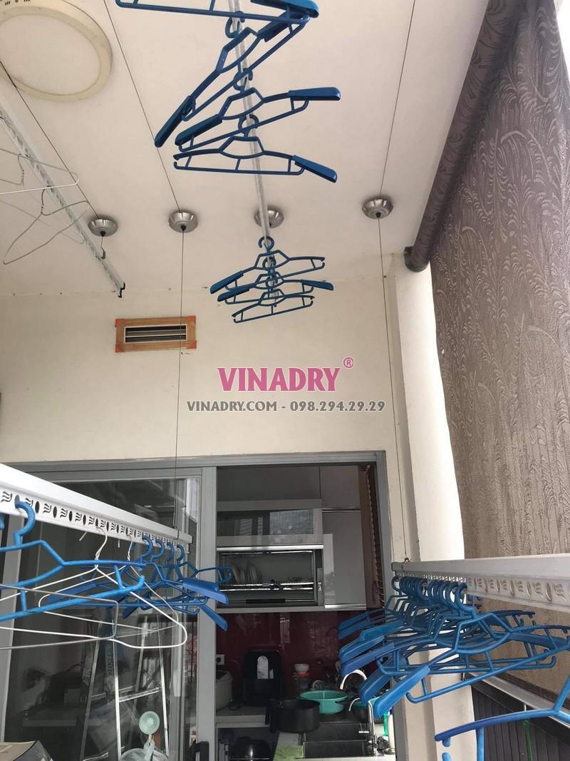 Sửa giàn phơi thông minh Đống Đa: thay bộ tời, dây cáp giá rẻ tại nhà chị Nhu, chung cư 102 Trường Trinh - 03
