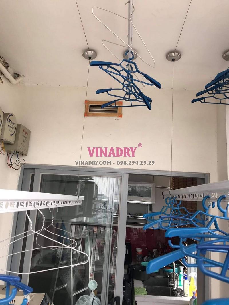 Sửa giàn phơi thông minh Đống Đa: thay bộ tời, dây cáp giá rẻ tại nhà chị Nhu, chung cư 102 Trường Trinh - 01