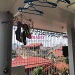 Sửa giàn phơi Long Biên: thay bộ tời cho nhà chị Nga, ngõ 239 Bồ Đề