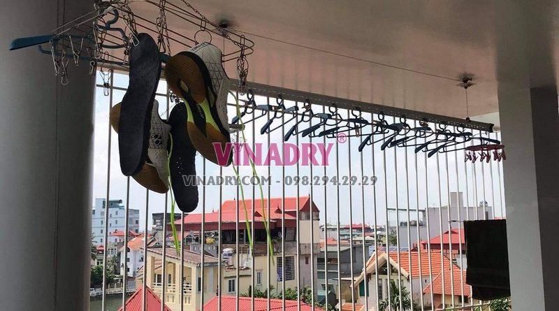 Sửa giàn phơi tại Long Biên, thay bộ tời cao cấp giá rẻ cho nhà chị Nga - 01