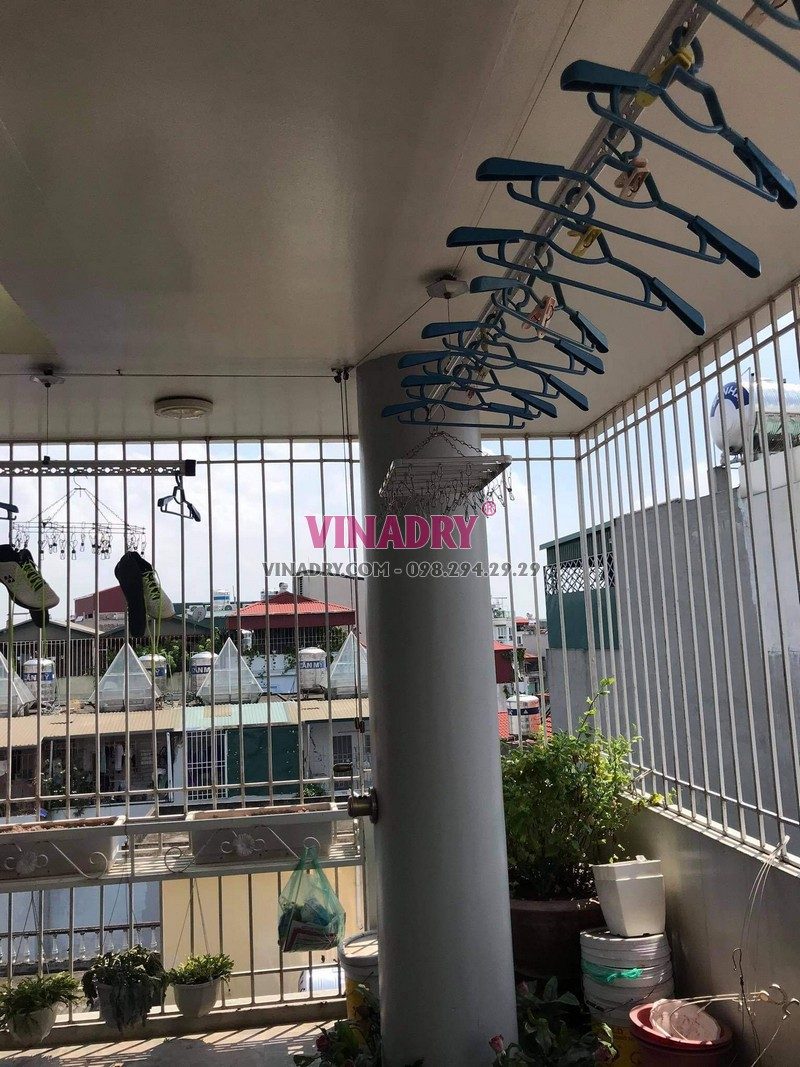 Sửa giàn phơi tại Long Biên, thay bộ tời cao cấp giá rẻ cho nhà chị Nga - 03