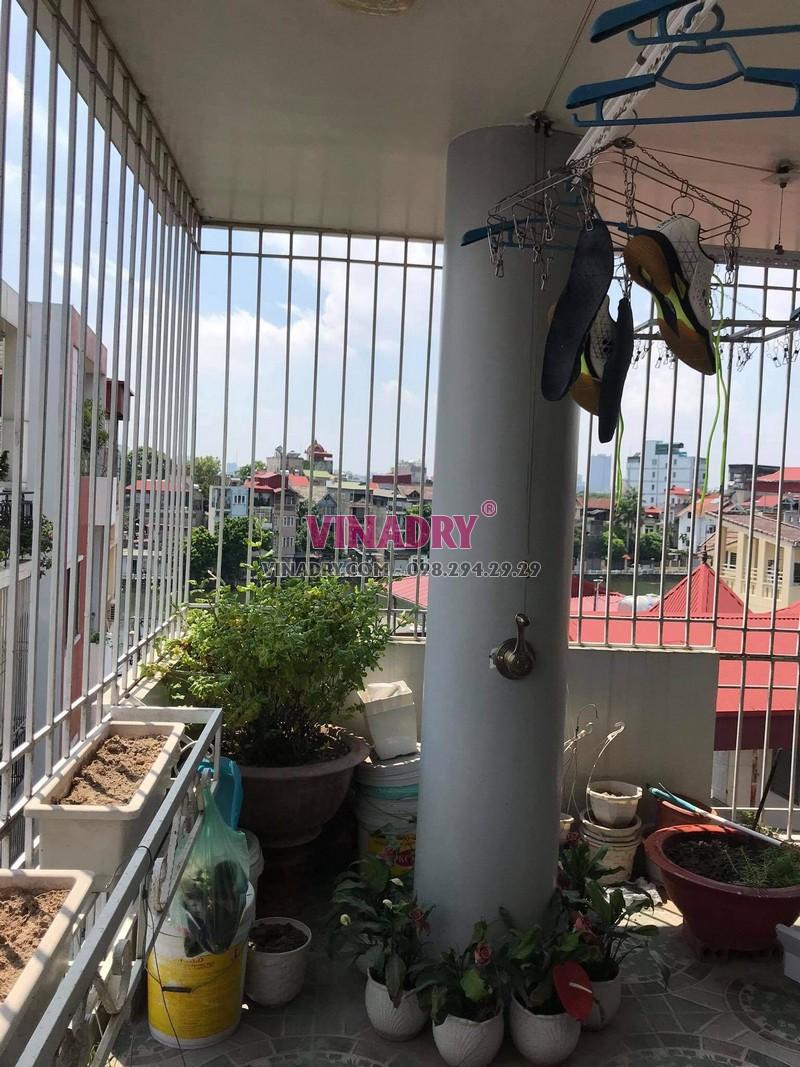 Sửa giàn phơi tại Long Biên, thay bộ tời cao cấp giá rẻ cho nhà chị Nga - 04