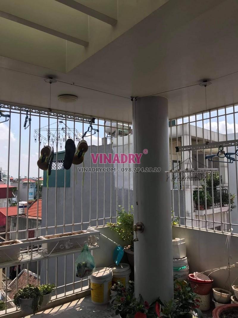 Sửa giàn phơi tại Long Biên, thay bộ tời cao cấp giá rẻ cho nhà chị Nga - 05