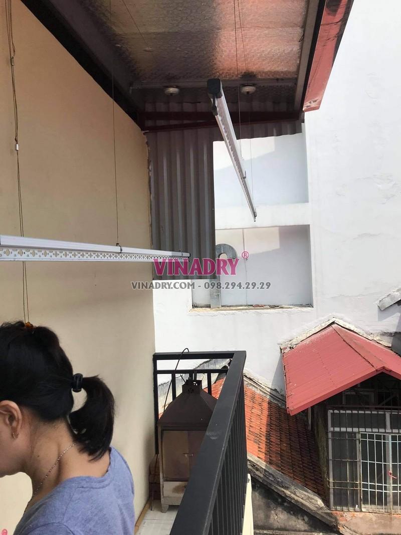 Thay dây cáp giàn phơi thông minh tại Hoàn Kiếm, số 17 Lý Thái tổ nhà chị Oanh - 02
