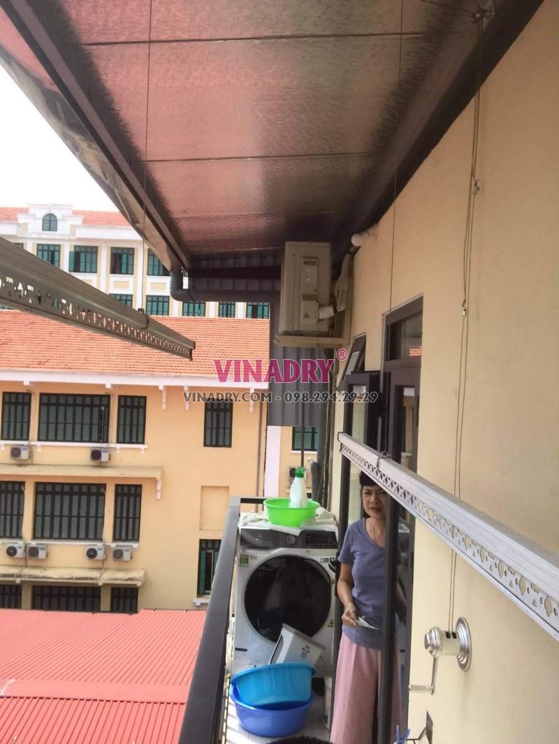 Thay dây cáp giàn phơi thông minh tại Hoàn Kiếm, số 17 Lý Thái tổ nhà chị Oanh - 07